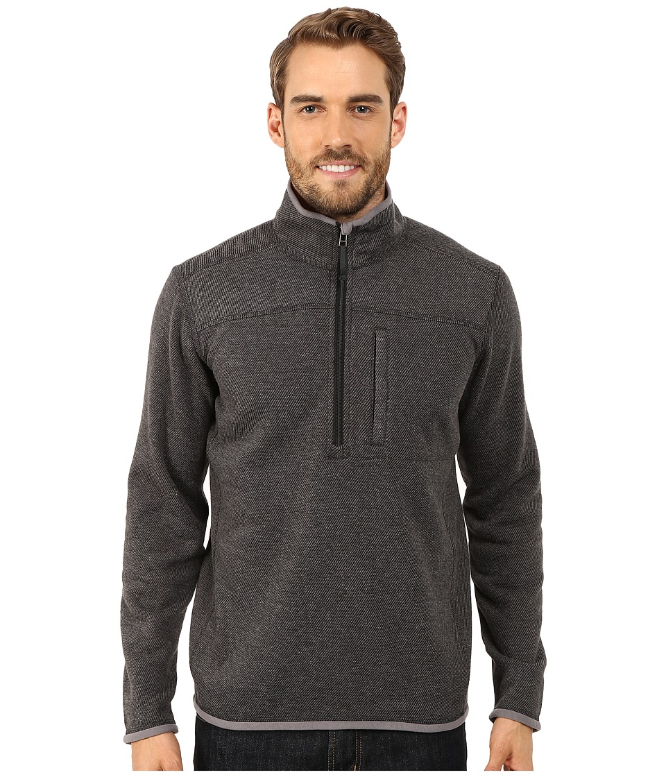 Royal Robbins - Blue Ridge 1/2 Zip (Charcoal) Men's Long Sleeve Pullover