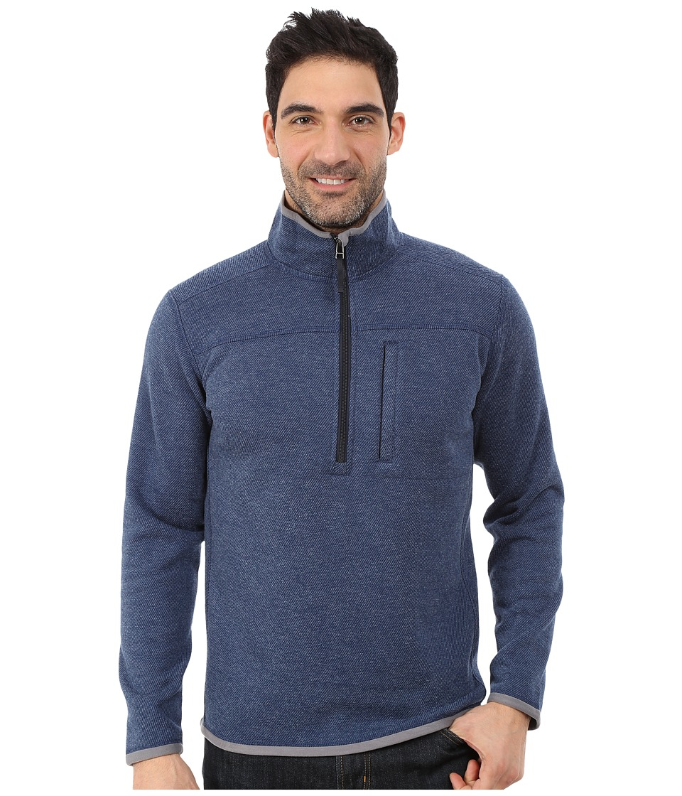 Royal Robbins - Blue Ridge 1/2 Zip (Lunar Blue) Men's Long Sleeve Pullover
