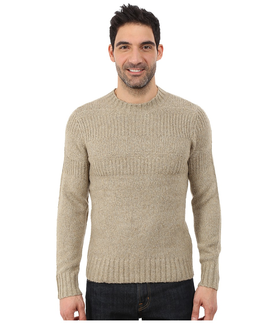 Royal Robbins - Scotia Ribbed Crew (Khaki) Men's Sweater