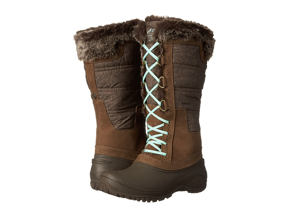 The North Face - Shellista II Tall (Desert Palm Brown/Surf Green) Women's Cold Weather Boots