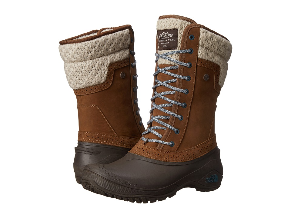 The North Face - Shellista II Mid (Desert Palm Brown/Balsam Blue) Women