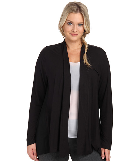 Marika Curves - Plus Size Camille Cardigan with Mesh Insets (Black) Women