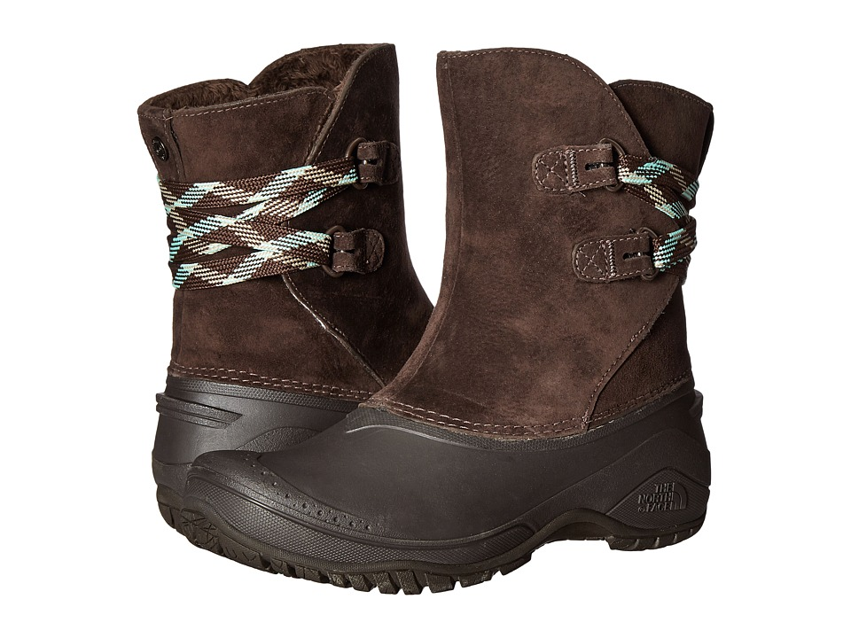 The North Face - Shellista II Pull-On (Demitasse Brown/Surf Green) Women's Cold Weather Boots