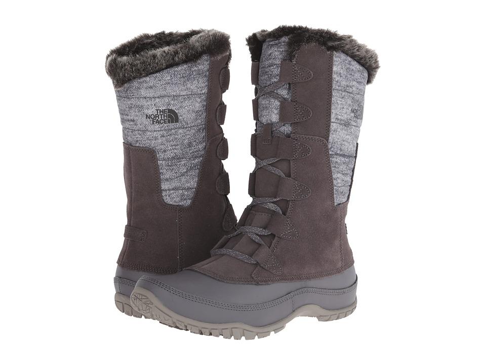 Womens The North Face Nuptse Purna Boots Plum Kitten Grey/Steeple Grey MBD87816