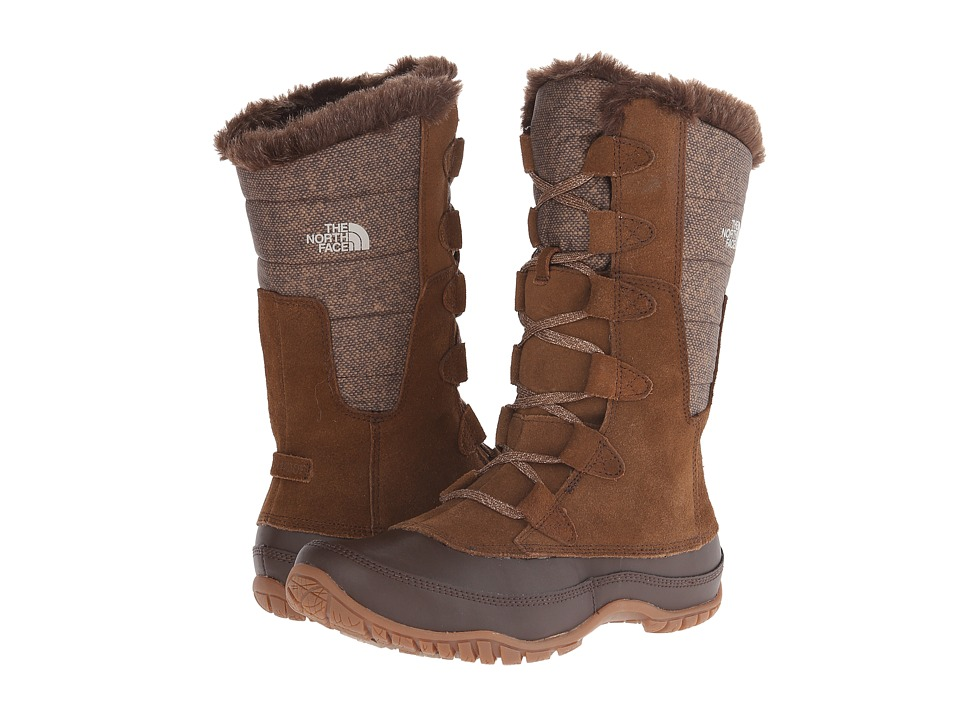 The North Face - Nuptse Purna (Desert Palm Brown/Feather Grey) Women