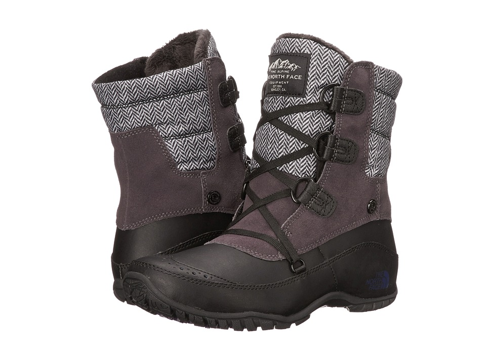 The North Face - Nuptse Purna Shorty (Plum Kitten Grey/Astral Aura Blue) Women's Cold Weather Boots