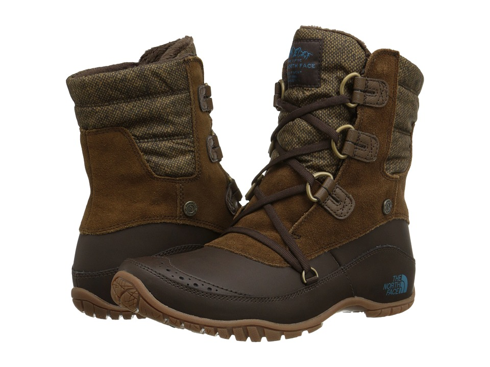 The North Face - Nuptse Purna Shorty (Desert Palm Brown/Storm Blue) Women's Cold Weather Boots