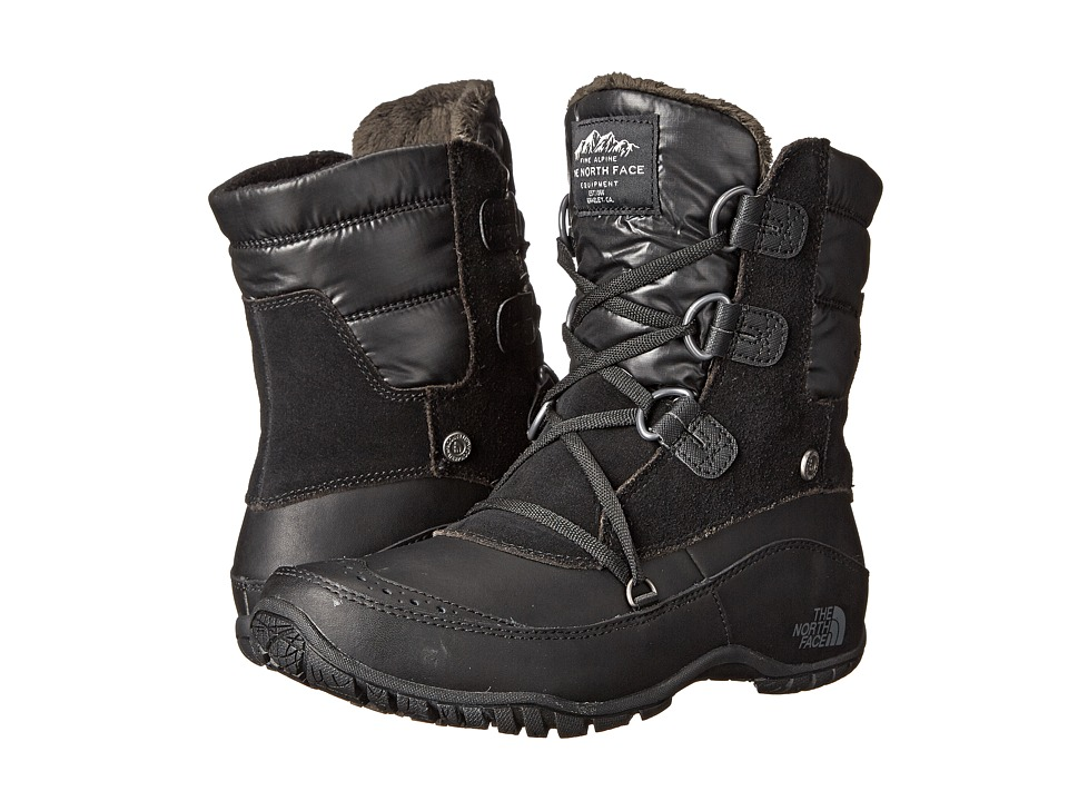 The North Face - Nuptse Purna Shorty (TNF Black/Plum Kitten Grey) Women's Cold Weather Boots