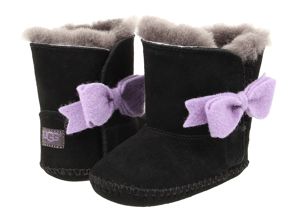 UGG Kids Cassie Bow (Infant/Toddler) (Black) Girls Shoes