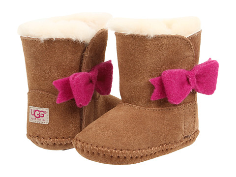 UGG Kids - Cassie Bow (Infant/Toddler) (Chestnut) Girls Shoes
