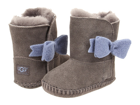 UGG Kids - Cassie Bow (Infant/Toddler) (Grey) Girls Shoes