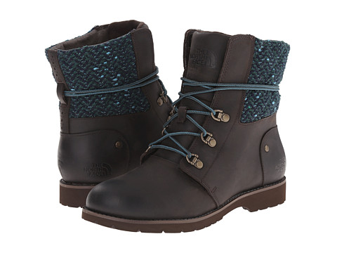 The North Face - Ballard Lace MM (Coffee Brown/Blue Green/Tweed) Women's Lace-up Boots