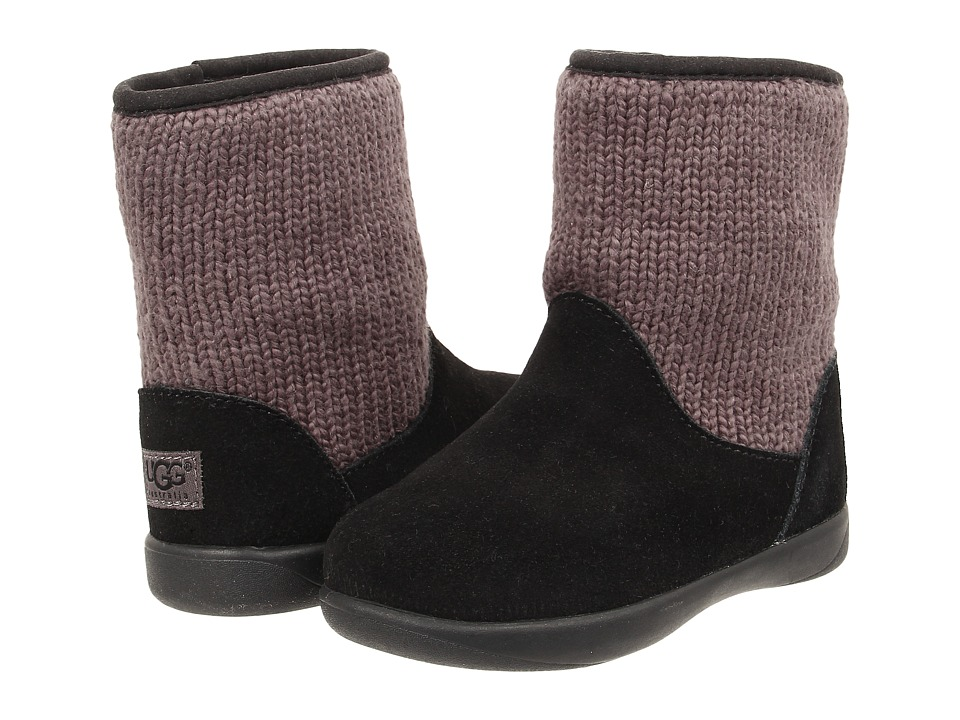 UGG Kids Dove (Toddler) (Black) Girls Shoes