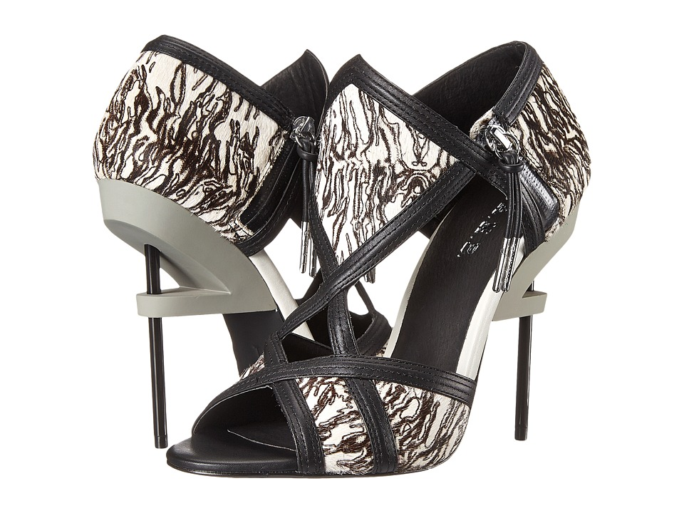 L.A.M.B. Excite (Grey/Black) High Heels