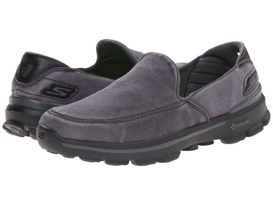 SKECHERS Performance Go Walk 3 Unwind (Black) Men