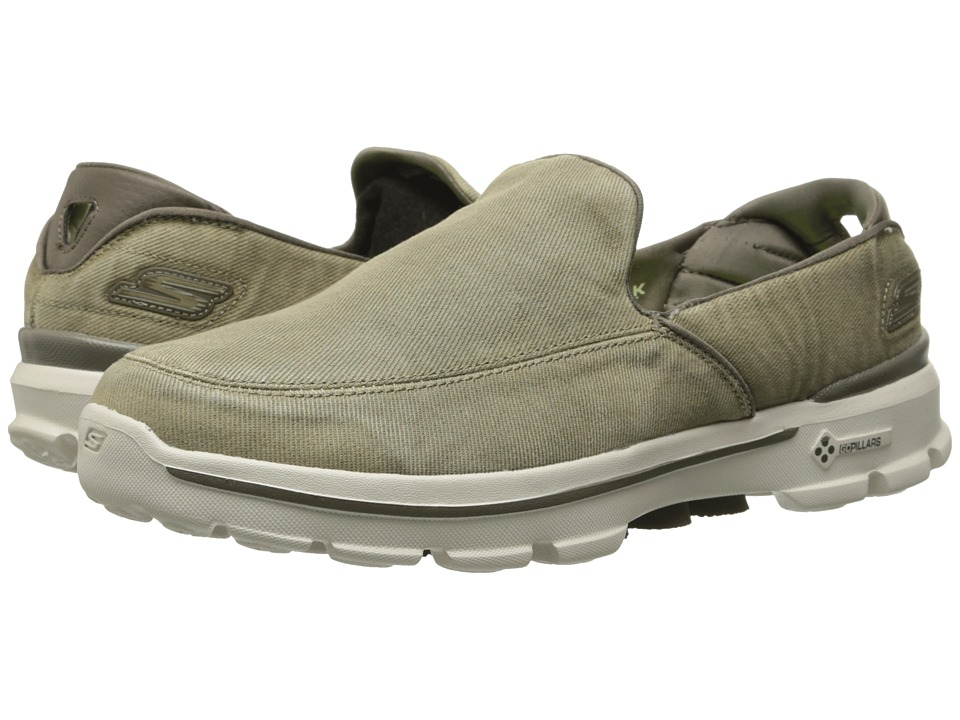 SKECHERS Performance Go Walk 3 Unwind (Khaki) Men