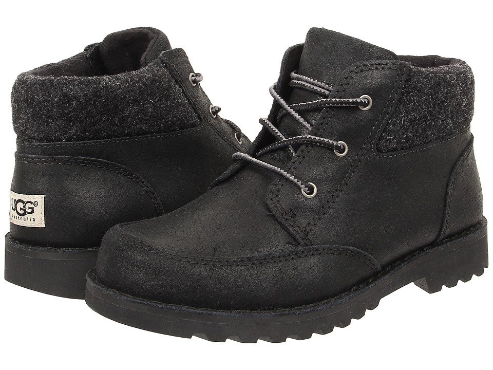 UGG Kids - Orin Wool (Little Kid/Big Kid) (Black) Boys Shoes