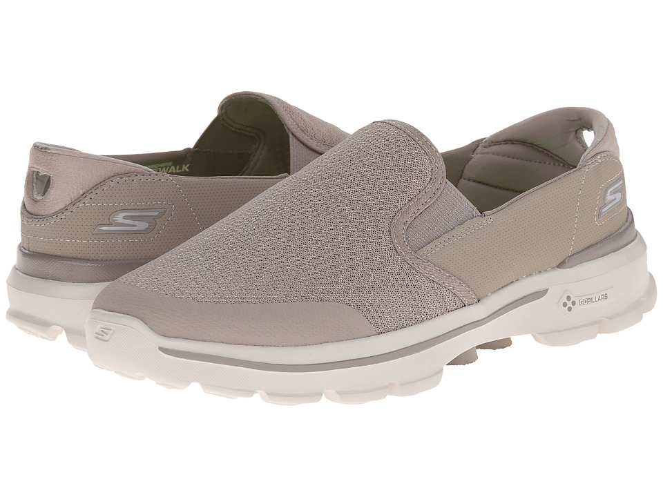 SKECHERS Performance - Go Walk 3 - Charge (Stone) Men's Slip on Shoes