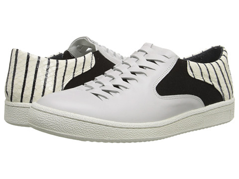 THAKOON ADDITION - Warwick 1 (Off White Matt Calf Stripe) Women's Lace up casual Shoes