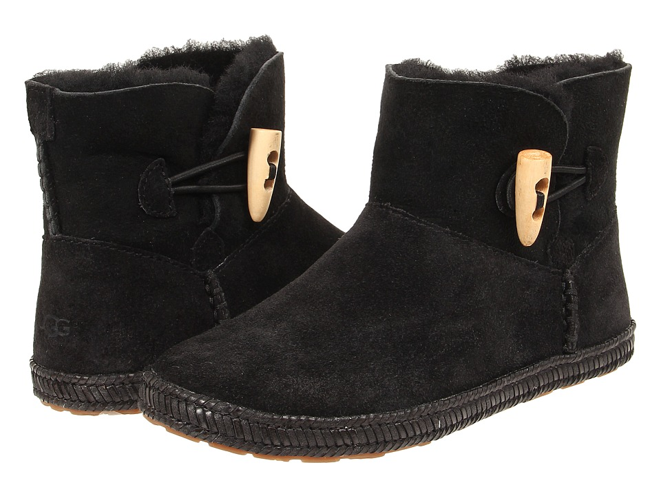 UGG Kids - Wyoming (Little Kid/Big Kid) (Black) Girls Shoes