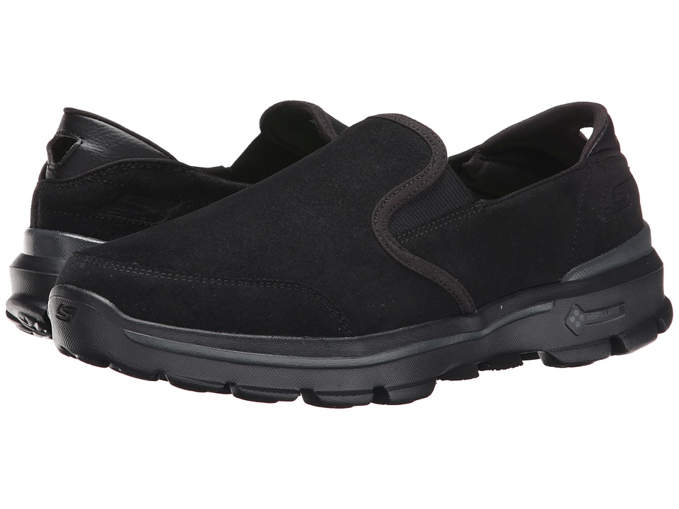SKECHERS Performance - Go Walk 3 - Task (Black) Men's Slip on Shoes