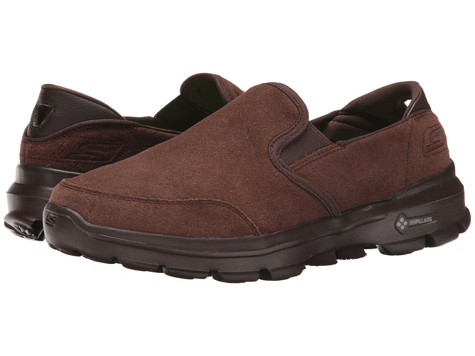 SKECHERS Performance - Go Walk 3 - Task (Chocolate) Men's Slip on Shoes
