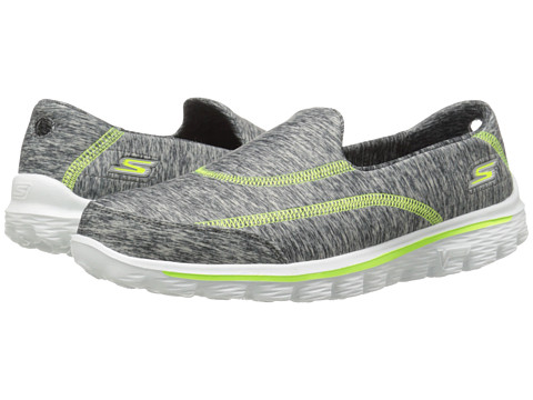 SKECHERS Performance - Go Walk 2 - 360 (Gray/Lime) Women's Slip on Shoes