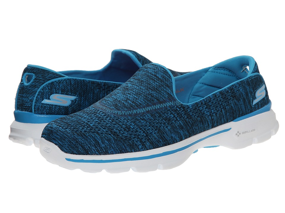 SKECHERS Performance - Go Walk 3 - Renew (Blue) Women