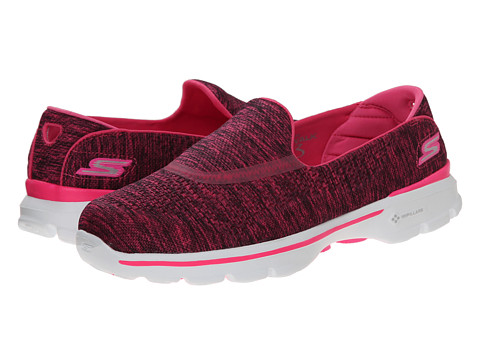 SKECHERS Performance - Go Walk 3 - Renew (Pink) Women's Flat Shoes