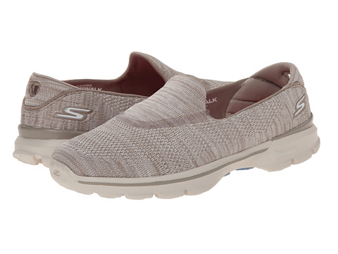 SKECHERS Performance - Go Walk 3 - Tilt (Taupe) Women's Flat Shoes