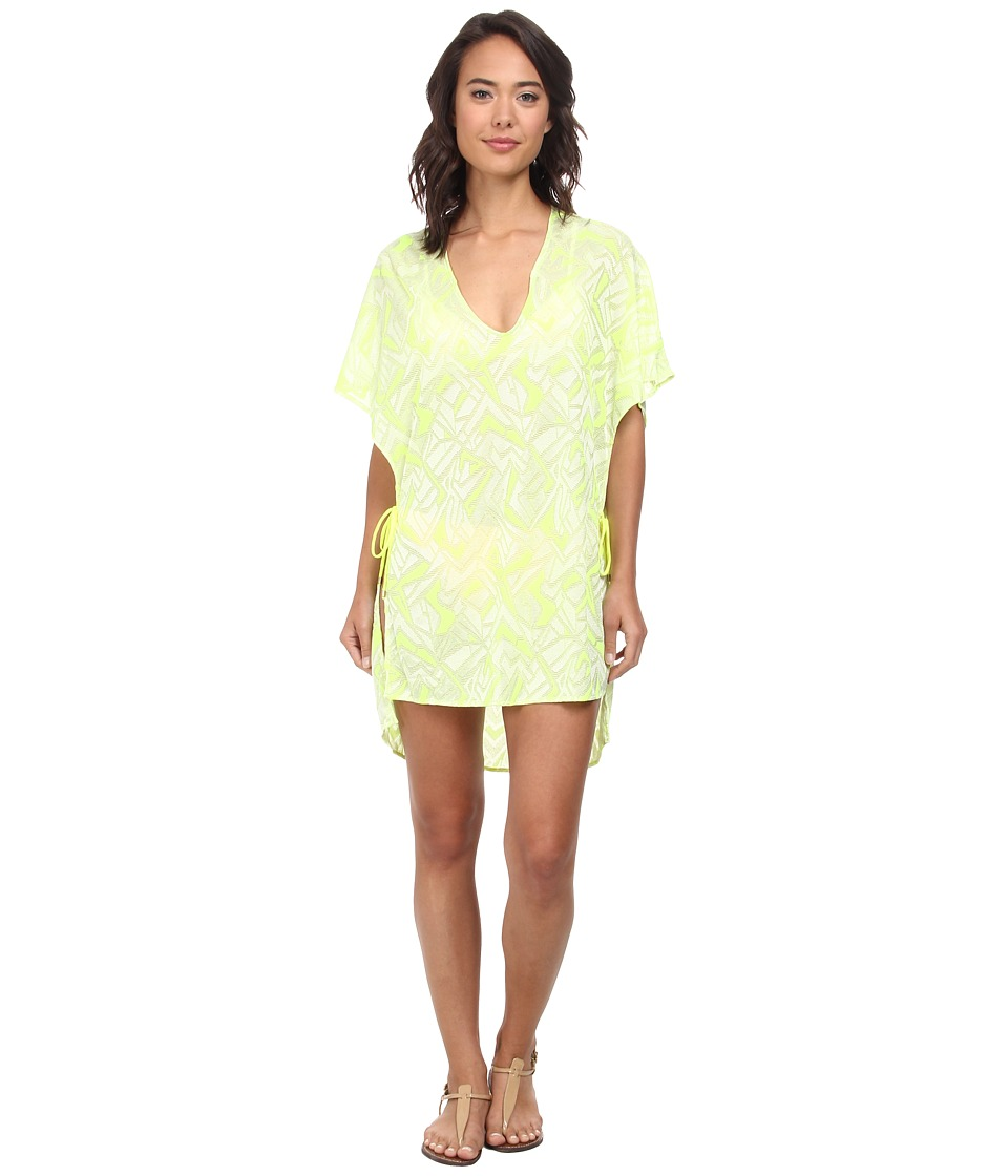 Vitamin A Swimwear - II Pelicano Poncho Cover-Up (Limelight Crochet) Women's Swimwear