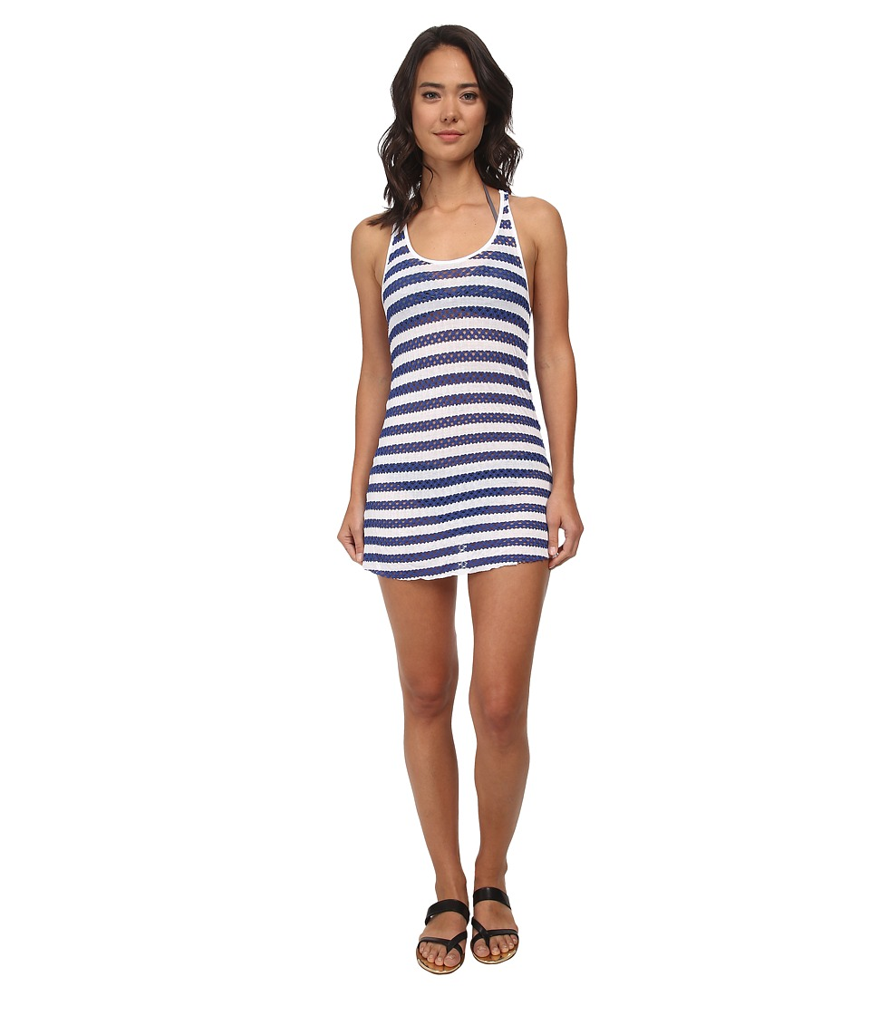 Vitamin A Swimwear - Stevie Dress Cover-up (Paros Crochet Stripe) Women's Swimwear