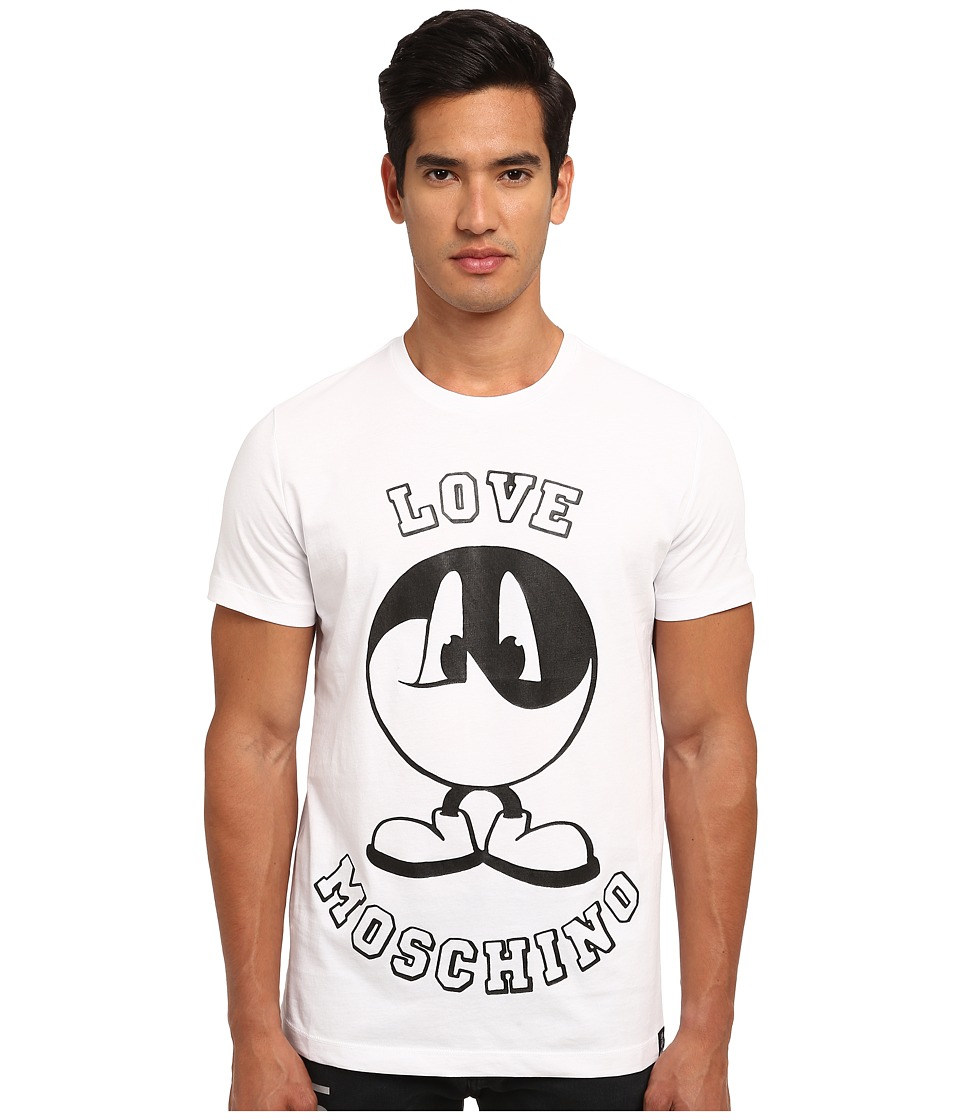 LOVE Moschino - Yin Yang Smiley Tee (White) Men