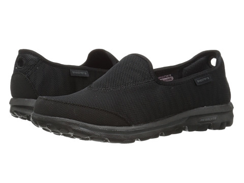 SKECHERS Performance - Go Walk - Extract (Black) Women's Flat Shoes