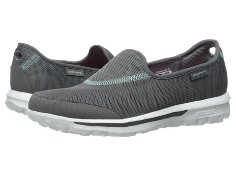 SKECHERS Performance - Go Walk - Extract (Charcoal/Blue) Women's Flat Shoes