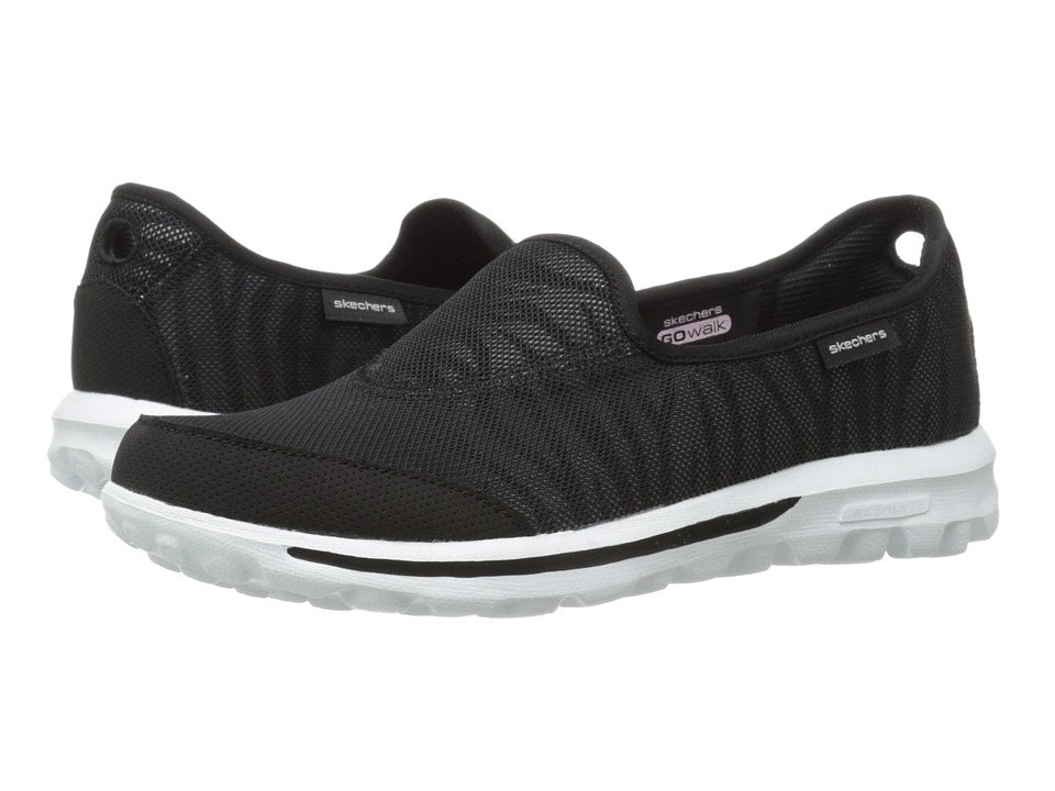 SKECHERS Performance - Go Walk - Extract (Black/White) Women's Flat Shoes