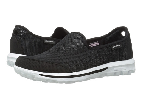 SKECHERS Performance - Go Walk - Extract (Black/White) Women