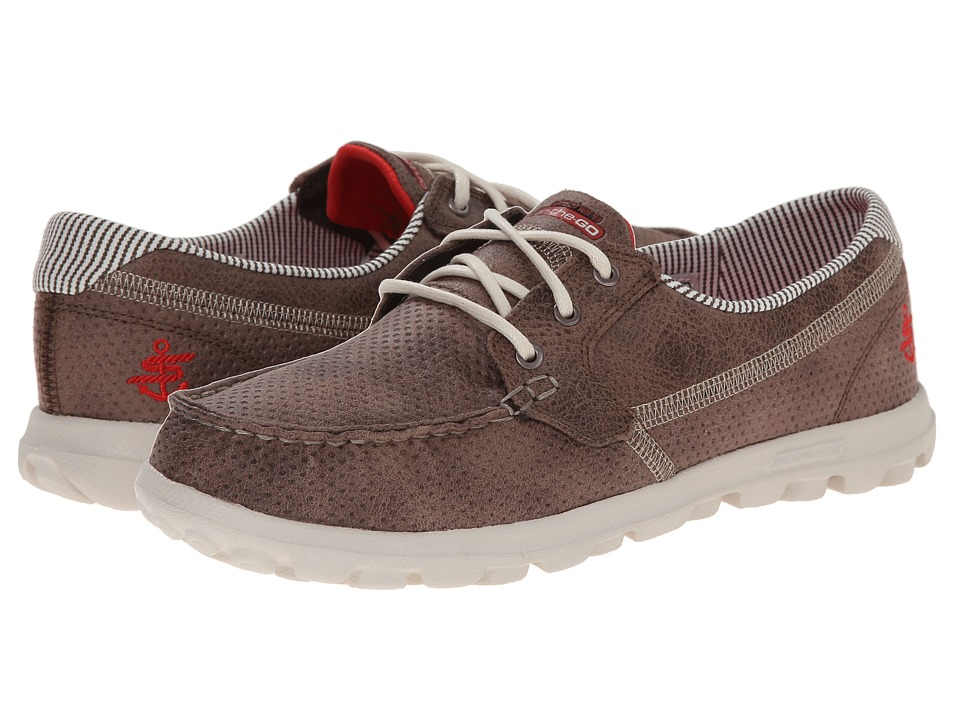 SKECHERS Performance - On The Go - Tide (Brown) Women's Lace up casual Shoes