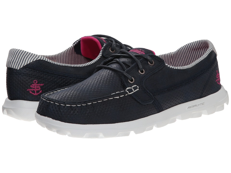 SKECHERS Performance - On The Go - Tide (Navy/White) Women's Lace up casual Shoes