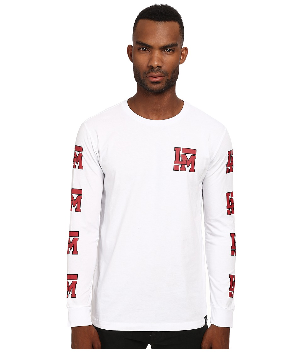 LOVE Moschino - Regular Fit Long Sleeve Tee (White) Men's T Shirt