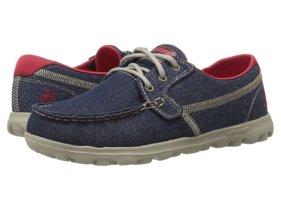 SKECHERS Performance - On The Go - Rage (Denim) Women's Lace up casual Shoes