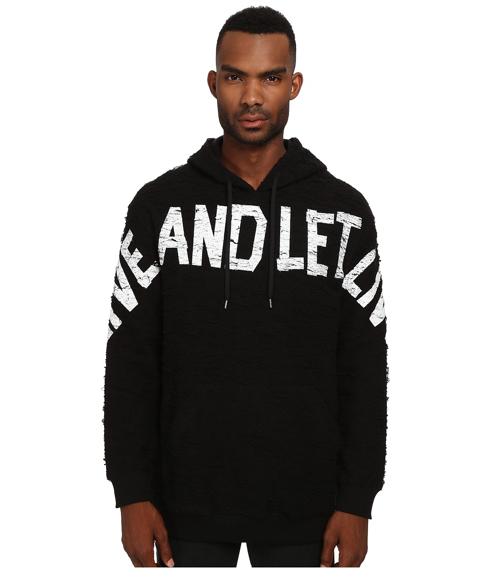 LOVE Moschino - Live and Let Live Hoodie (Black) Men's Sweatshirt
