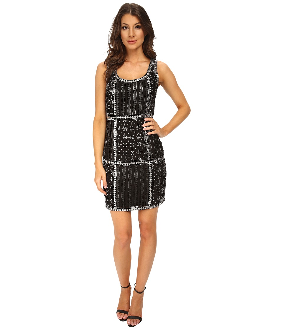 Adrianna Papell - Sleeveless Fully Beaded Cocktail Dress (Black) Women's Dress