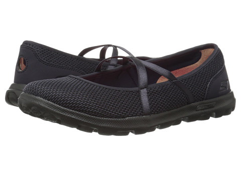 SKECHERS Performance - On The Go - Point (Black) Women's Flat Shoes