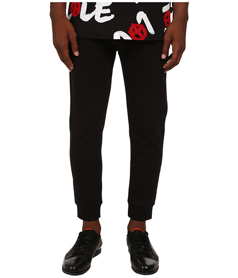 LOVE Moschino - Regular Fit Joggers (Black) Men