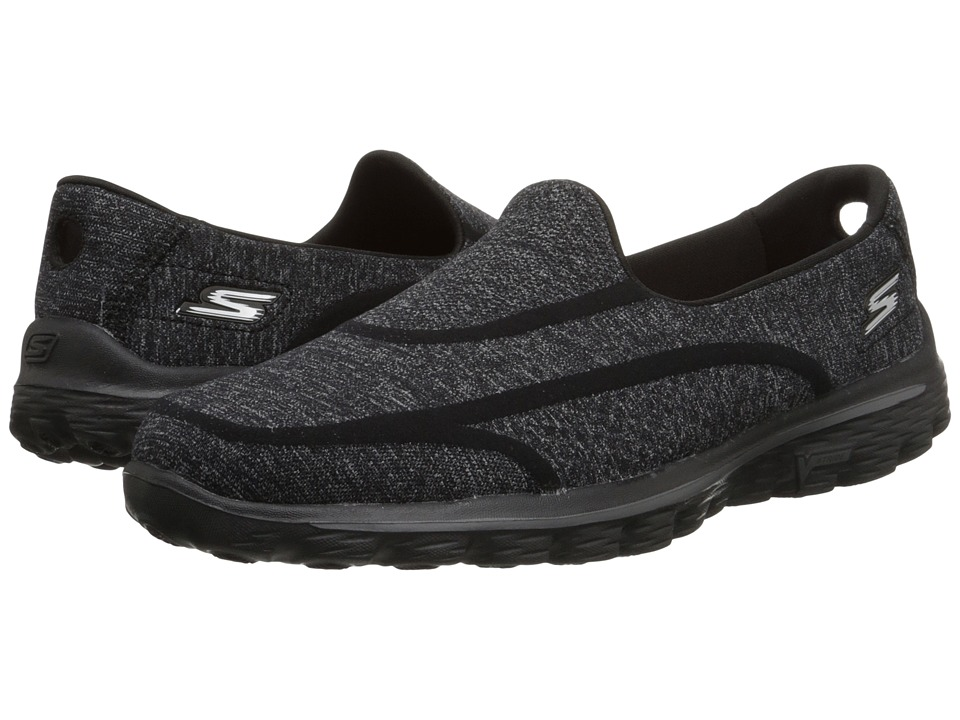 SKECHERS Performance - Go Walk 2 - Super Sock 2 (Black) Women's Flat Shoes