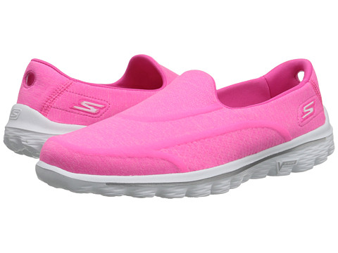SKECHERS Performance - Go Walk 2 - Super Sock 2 (Hot Pink) Women