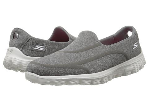 SKECHERS Performance - Go Walk 2 - Super Sock 2 (Charcoal) Women's Flat Shoes