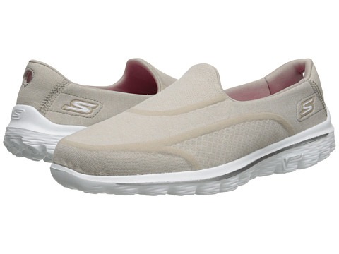 SKECHERS Performance - Go Walk 2 - Super Sock 2 (Taupe) Women's Flat Shoes