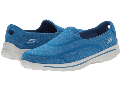 SKECHERS Performance - Go Walk 2 - Super Sock 2 (Blue) Women's Flat Shoes